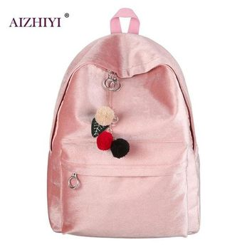 University College Backpack Autumn Winter Velvet  Fashion Velvet Small Women Bags Plush Feminine  Female  s Mochila for WomenAT_63_4