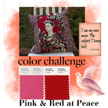 Pink and Red at Peace with Frida