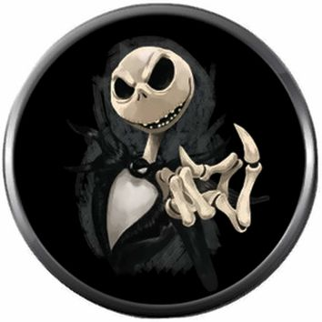 Nightmare Before Christmas Spooky Jack Skellington Come Here Finger 18MM - 20MM Charm for Snap Jewelry New Item