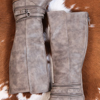 Vally Tall Distressed Riding Boot