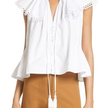 Sea Cirque Eyelet Cotton Top | Nordstrom