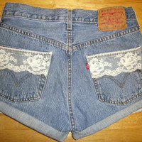 Vintage Levi's with Lace Detail by Lovely Confession