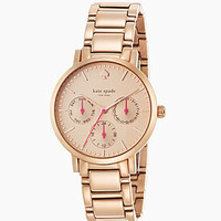 kate spade new york Gramercy Rose Goldtone Multifunction Watch - Rose