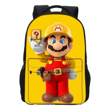 Super Mario party nes switch VEEVANV New Fashion School Bags  Printing Backpacks Girls Shoulder Bag Cool Cartoon Mochila Casual Men Daily Daypacks AT_80_8