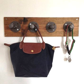 Reclaimed Wood & Pipe Coat Rack