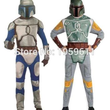 1 X Star Wars Boba Fett Cosplay Bounty Hunter Costume Cosplay party Costume with Mask For Cosplay For Man
