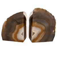 Agate Bookends | Rain Collection | Desktop Accessories