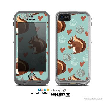 The Vector Love & Nuts Squirrel Skin for the Apple iPhone 5c LifeProof Case