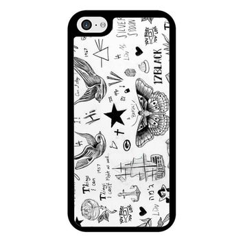 Harry Styles Tattoos iPhone 5/5S/SE Case