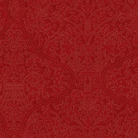 Granville Wallpaper in Red and Gold by Ronald Redding for York Wallcoverings