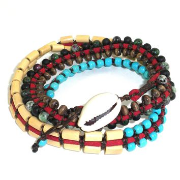 Vegan Wrap Bracelet - Tribal Chief