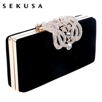HOT Crown rhinestones evening bags purse clutch evening bags shoulder bag for wedding