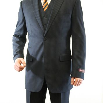 Navy Pinstripe Classic Fit Suit