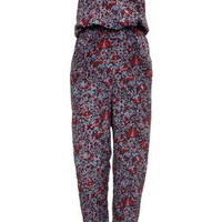 Bird Floral Jumpsuit by Boutique - Multi