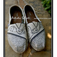 What is Love Custom TOMS Shoes II - Ivory and Black