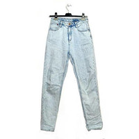 High Waisted Mom Jeans Acid Wash Small Medium S M