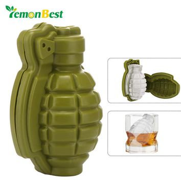 3D Grenade Shaped Ice Mold