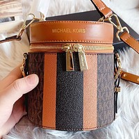 MK Michael kors New fashion more letter leather shoulder bag crossbody bag handbag Brown
