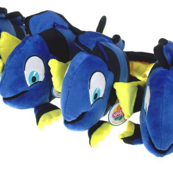 NANCO Tropical Blue Fish Lot of 4 Stuffed Animals Tang Plush Toy