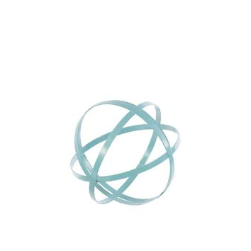 Chic Small Metal Orb Dyson Sphere Design Decor Cyan