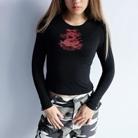 Long Sleeve Winter Sexy Cartoons Print Slim Hoodies [72661860367]