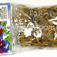 Silver 'N Gold Bands (Limited Edition) | Rainbow loom