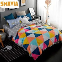 SMAVIA Bed Sets 3/4pcs Modern Bedding Sets Twin Full Queen King Bed Set Home Hotel Bed Linen Bed Sheet Kids Duvet Cover Sets
