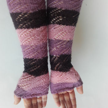 Knitted fingerless gloves arm warmers lace fingerless lace gloves wool gloves knitted gloves women gloves winter merino gloves