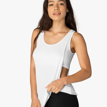 On And Off Ribbed 2-Fer Tank