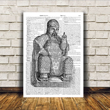 Buddha poster Buddhist art Wall decor New Age print RTA154