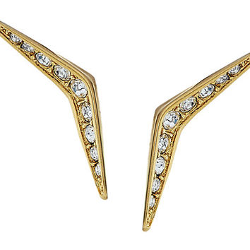 Michael Kors Tone and Pave Stud Earrings Gold - Zappos.com Free Shipping BOTH Ways