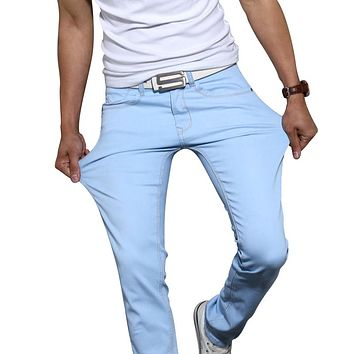 2018 New Fashion Men's Casual Stretch Skinny Jeans