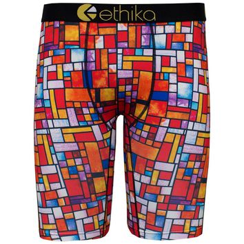 Ethika Men's Stained Glass The Staple Fit Boxer Brief Underwear