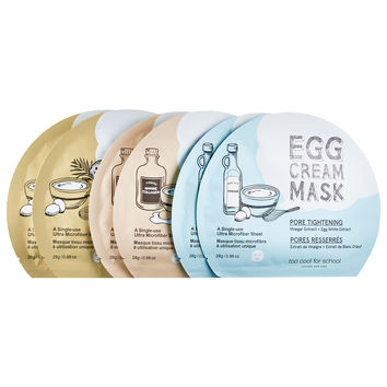 Sephora: Too Cool For School : 1/2 Dozen Egg Cream Mask : skin-care-sets-travel-value