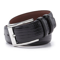 Daniel Cremieux Signature Collection Lizard Embossed Belt - Cognac
