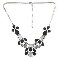 Women's Statement Necklace - Silver/Black