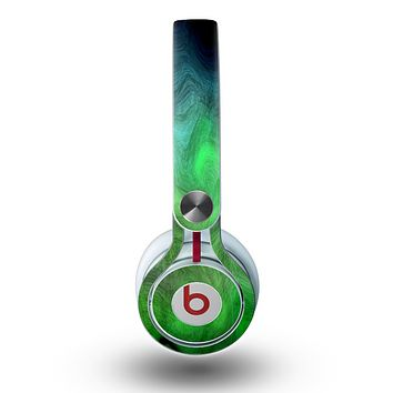 The Vivid Green Sagging Painted Surface Skin for the Beats by Dre Mixr Headphones