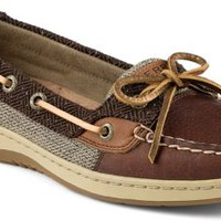Sperry Top-Sider Angelfish Slip-On Boat Shoe Tan/Herringbone, Size 6M  Women's Shoes