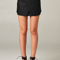High Waisted Faux Leather Skirt- FINAL SALE