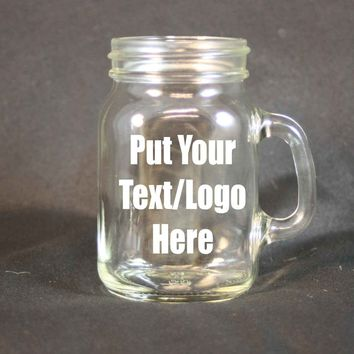 Personalilzed 4 Ounce Glass Mug, Custom Etching, Personalized Sand Etching, Personalized Glass, Corporate Gift, Party Favors