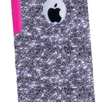 OtterBox Commuter Series Case for iPhone 5c - Custom Glitter Case for iPhone 5c - Smoke/Pink