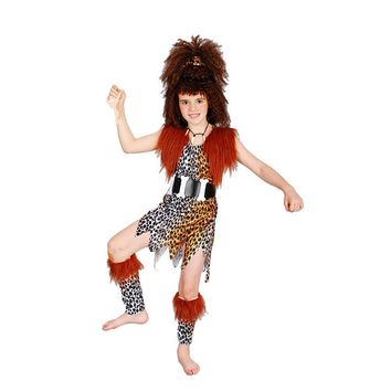 Halloween cosplay make-up dancing clothes African savage Native American Indian costumes children's girl models indigenous