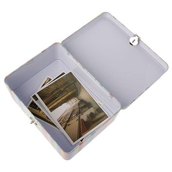 Retro Storage Box Lock Case Tea Candy Storage Tin Box Coin Box Home Office Jewelry Container Maquiagem Sundries Desk Organizer