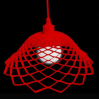 Modern Silica Gel Net Model Lamp Red - Wonderful Lights