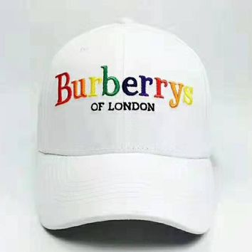 4bb0fba67f1a0 Burberry 2019 new rainbow embroidery letters for men and women m