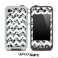 Black and White Leopard Print and White Chevron Pattern for the iPhone 5 or 4/4s LifeProof Case