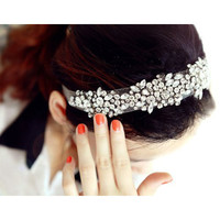 HNSD  Lace Rhinestone Net Yarn Hair Head Bands Hoop Accessories  Headbands