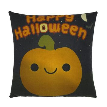 Halloween Pumpkin Pillow Case Sofa Waist Throw Cushion Cover Home Decor
