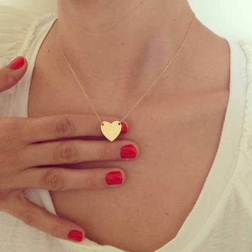 Simple but Elegant Heart Necklace (in Gold & Silver)