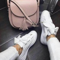Fashion Online Puma Basket Heart Patent Leather Sneaker